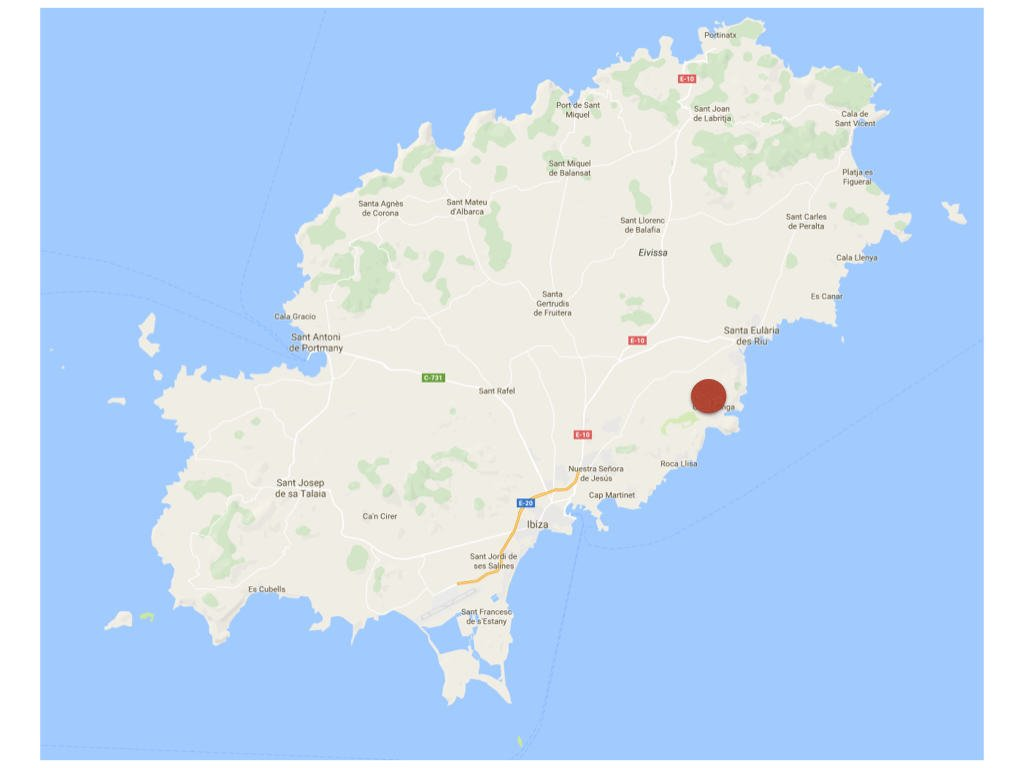 Ibiza Karte Playa D En Bossa.Ibiza Map Cala Llonga 001 Villas Rentals In Ibiza Villa Rental