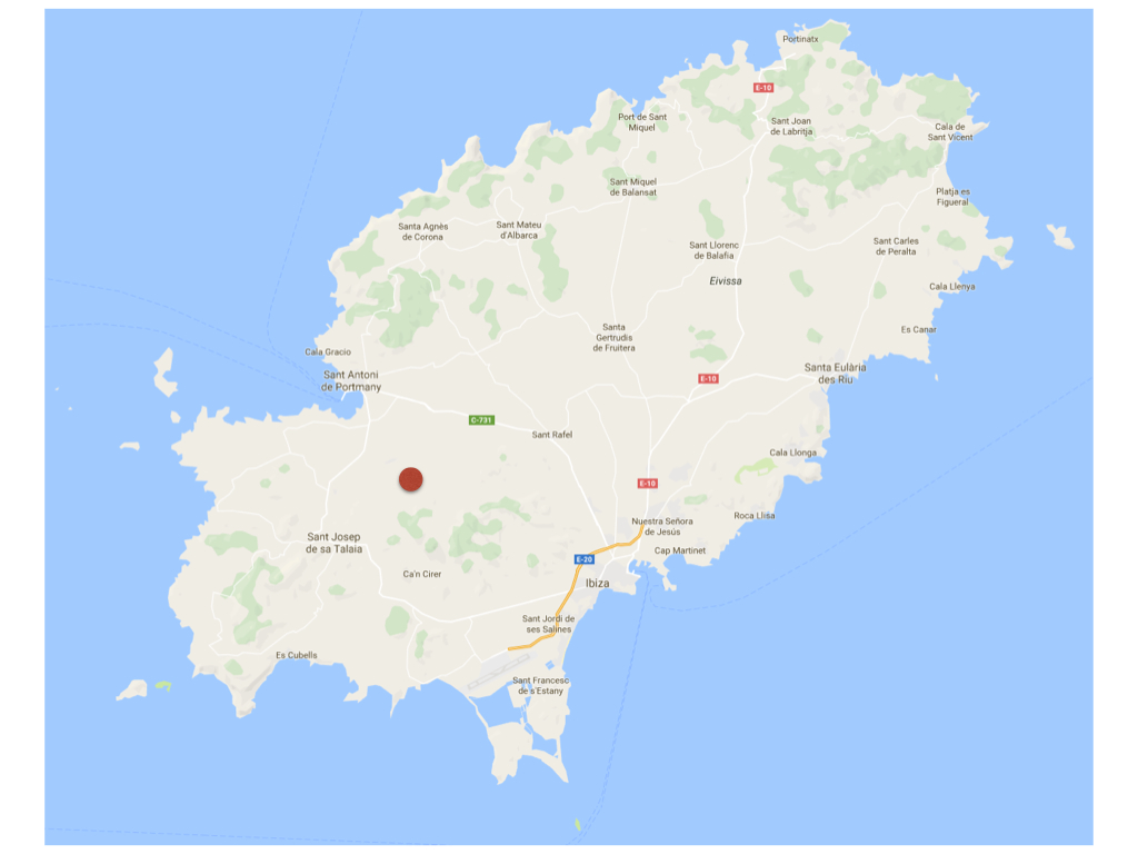 Ibiza Map- Can Cos.001 - Villas Rentals in Ibiza | Villa ... on arenys de mar map, cala salada map, canary islands map, ciutadella de menorca map, balearic islands map, places to visit map, mallorca map, europe map, spain map, costa brava map, islas baleares map, pitons map, minorca map, navagio map, crete map, gaucin map, alcoy map, world map, talamanca map, amiens cathedral map,