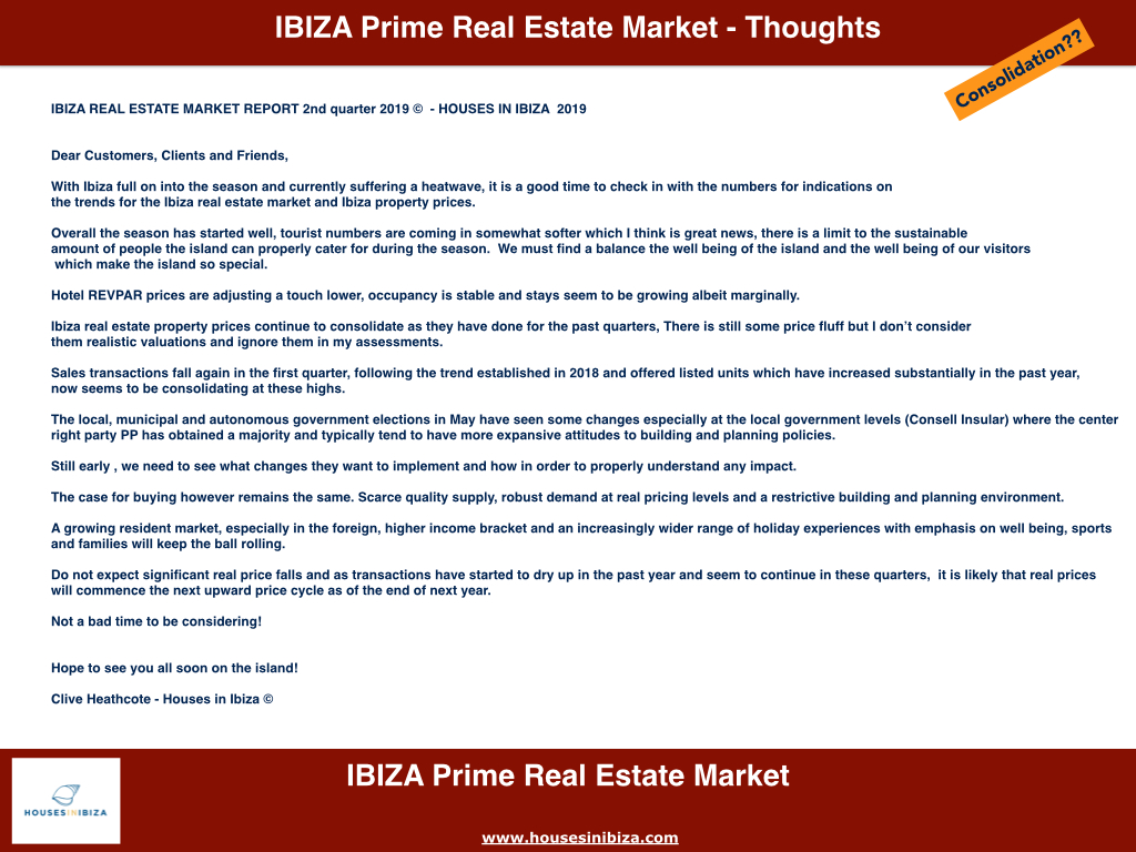 Ibiza Real Estate Market Report 2Q 2019 Houses in Ibiza